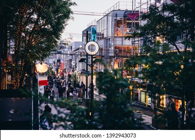 TOKYO, JAPAN - 18 APRIL, 2018: View of Cat Street in Harajuku district in Tokyo, Japan.