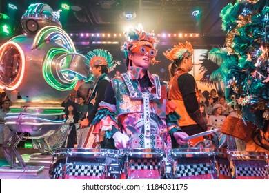 Tokyo, Japan - 19 October, 2017: Robot Restaurant Show in Shinjuku, Tokyo.