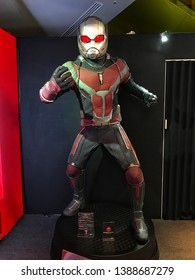 Tokyo, Japan, 1st, June, 2017. MARVEL AGE OF HEROS Exhibition holding in the Roppongi Hills. Ant-Man model is displayed in the shop. Ant-Man is a fictional superheroe appearing in Marvel Comics.