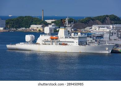 Tokyo Japan, 20 Jun 2015 USNS Howard O. Lorenzen T-AGM-25?at Yokosuka Naval Port.