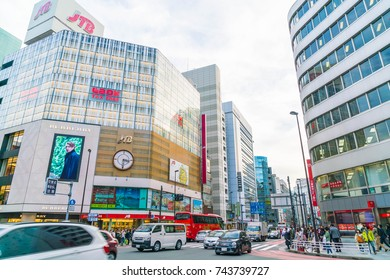 TOKYO ,JAPAN -  2016 Nov 17 :  Shinjuku is one of Tokyo's business districts with many international corporate headquarters located here. It is also a famous entertainment area