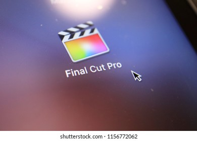 TOKYO, JAPAN. 2018 Aug 15th. Close up the Display and Icon of Final Cut Pro.