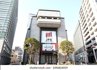 TOKYO, JAPAN. 2018 Jan 21st. Tokyo Stock Exchange Market Building.
