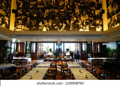 TOKYO, JAPAN -22 OCT 2018- View of the Park Hyatt Tokyo, a luxury hotel located in Nishishinjuku. It served as the filming location for the movie Lost in Translation.
