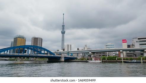 Tokyo, Japan, 25 June 2019: Tokyo downtown city in asakusa district
