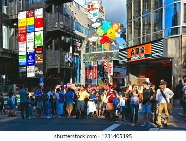 TOKYO, JAPAN 25.08.2017. crowd of people at Takeshita street in Harajuku, famous of unique Japanese cosplay street fashion.