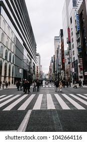 Tokyo / Japan — 26.12.2017: Tokyo city