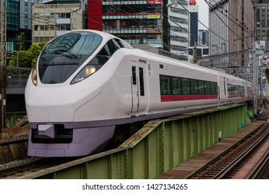 Tokyo, Japan - April 17, 2019 - Joban Line is a railway line in Japan operated by East Japan Railway Company. It begins at Nippori Station and officially ends at Iwanuma Station.