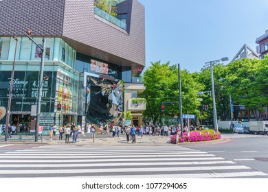 TOKYO , JAPAN - April 19 , 2018 : Omotesando Tokyu Plaza in Harajuku district Tokyo, Japan. one of the centers of fashion and culture in Japan
