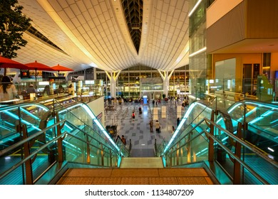 TOKYO, JAPAN - APRIL 19 2018: Haneda Airport is one of the two primary airports that serve the Greater Tokyo Area.