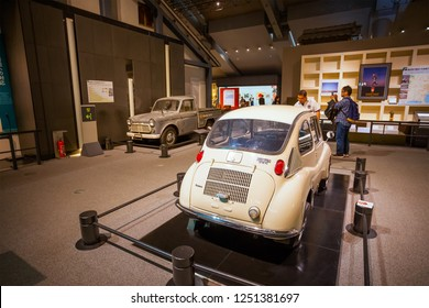 Tokyo, Japan - April 25 2018: Edo Tokyo Museum permanent exhibition vividly illustrates the past of Tokyo (known as Edo) covers features of the capital from the Edo Period to relatively recent decades