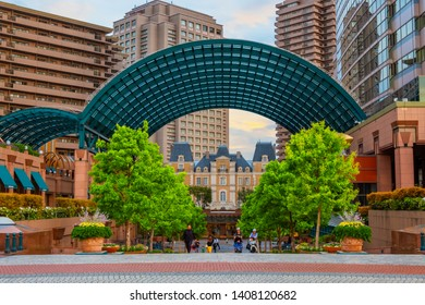 Tokyo, Japan - April 26 2018: Yebisu Garden Place built on the former site of Yebisu beer brewery which is the developing town and Ebisu train station