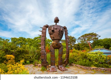 Tokyo, Japan - April 29 2018: The Robot statue on an open garden space at Ghibli museum