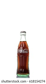 TOKYO, JAPAN - APRIL 9TH, 2017. Coca Cola original taste drinks over white background., The carbonated soft drink is produced by The Coca-Cola Company.