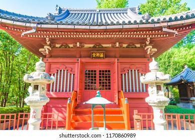 TOKYO, JAPAN - AUGUST 21, 2018: View of the Senso-ji Temple in Asakusa area, Tokyo, Japan. The Senso-ji Temple is dedicated to Kannon Bosatsu, the Bodhisattva of compassion.