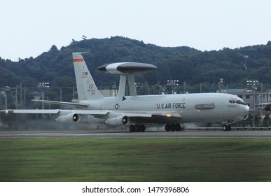 Tokyo, Japan - August 24, 2009:United States Air Force Boeing E-3C Sentry AEW&C (Airborne early warning and control) aircraft.