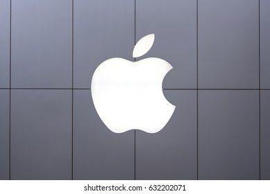 TOKYO, JAPAN - CIRCA MARCH, 2017: Apple logo. Apple Inc. is an American multinational technology company headquartered in Cupertino, California.