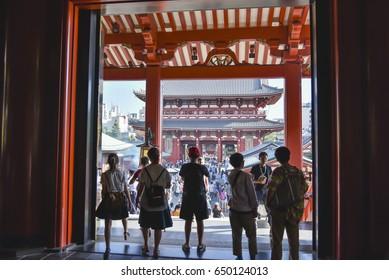 Tokyo, Japan – CIRCA September 2016: Senso-ji temple in Asakusa