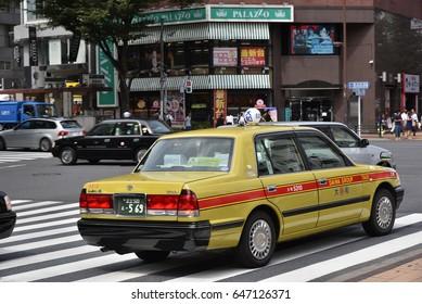 Tokyo, Japan – CIRCA September 2016:Taxi in Tokyo