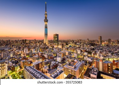 Tokyo, Japan cityscape with the Skytree.