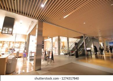 TOKYO JAPAN - DECEMBER 11, 2018: Unidentified people visit Coredo Muromachi shopping mall in Tokyo Japan.