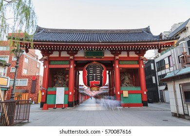 TOKYO, JAPAN - December 12: Morning view around Sensoji Temple in Tokyo, Japan on December 12'16. Oldest temple in Tokyo and it is one of the most significant Buddhist temples located in Asakusa area.