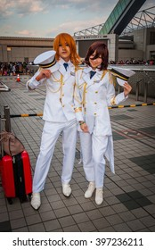 Tokyo, Japan - December 30, 2014: Cosplay from the game 'Uta no Prince-sama' at Comiket which is the world's largest 'dojinshi' (fan made self-published works) fair and is held twice a year in Tokyo.