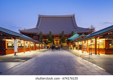 Tokyo, Japan - December 31, 2016: Sensoji is a Buddhist temple located in Asakusa. It is one of Tokyo's most colorful and popular temples.