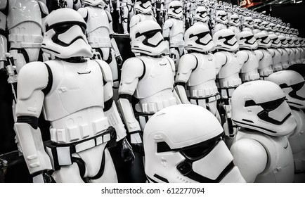 ToKyo, Japan - Feb 19 2017, New Stormtroopers army (First Order) figures army from Star wars