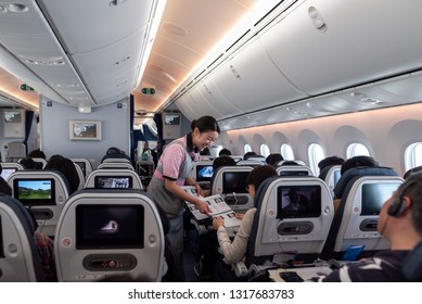 Boeing 787 Dreamliner Interior Images, Stock Photos & Vectors