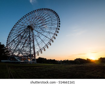 Tokyo, Japan at Ferris wheel and Morning glow