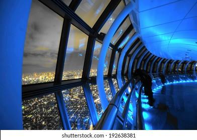 Tokyo, Japan- Jan 07, 2014:  Tokyo Sky tree TEMBO GALLERIA 450m