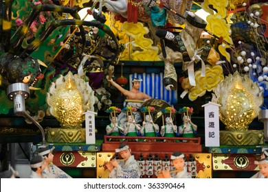 TOKYO, JAPAN - JAN 17 2016: Japanese dolls presented at the festival in Tokyo Dome on Jan 17.  Japanese traditional dolls are known by the name ningyo in Japan, which literally means human shape.