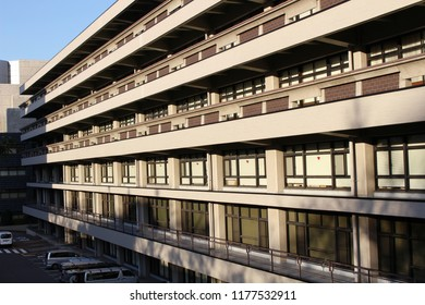 TOKYO, JAPAN - January 12, 2018: View of the National Diet Library, the national library of Japan. It is one of the world's largest libraries.