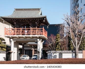 TOKYO, JAPAN - January 25, 2019 : Traditional japanese house at Toyko city.