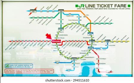 Tokyo Train And Subway Map.Tokyo Subway Images Stock Photos Vectors Shutterstock