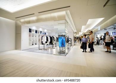 TOKYO, JAPAN - JUL 21TH 2017.Luxury shopping mall interior. Multi luxury brand inside in ginza, Tokyo.