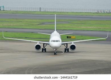 Tokyo, Japan - July 02, 2019:All Nippon Airways (ANA) Airbus A321-200 (JA111A) passenger plane.