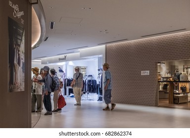 TOKYO, JAPAN - JULY 22TH, 2017. People at the Ginza 6 shopping centre, Tokyo