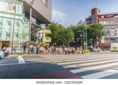 Tokyo, Japan - July 24 , 2018 : Omotesando Tokyu Plaza in Harajuku district Tokyo, Japan. one of the centers of fashion and culture in Japan