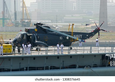 Tokyo, Japan - June 12, 2007:Pakistan Navy Westland WS-61 Sea King Mk.45 shipboard anti-submarine helicopter.