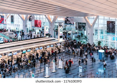 Tokyo, Japan - June 20, 2018 : Edo Market Place in Tokyo, A part of Haneda international airport that sells all kind of Japanese products for tourist