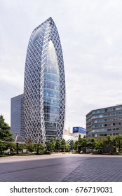 Tokyo, Japan - June 24, 2017 : Mode Gakuen Cocoon Tower in Shinjuku, Tokyo, Japan. It is one of most recognized skyscrapers in the world with Emporis Skyscraper Award (Gold) for 2008.
