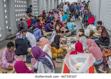 TOKYO, JAPAN - JUNE 25TH, 2017. Malaysian community in Tokyo celebrates Eid al-Fitr. Eid al-Fitr is a religious holiday celebrated by Muslims worldwide marking the end of Ramadan fasting month.
