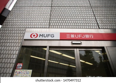 Tokyo, Japan - June 26, 2019:  The Bank of Tokyo - Mitsubishi UFJ Financial Group, MUFG is one of the largest banks in the world