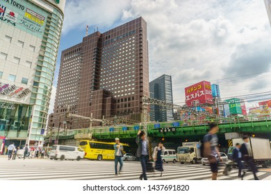 Tokyo, Japan - June 5, 2019 :Shinjuku district.Shinjuku is a special ward located in Tokyo Metropolis, Japan. It is a major commercial and administrative centre .