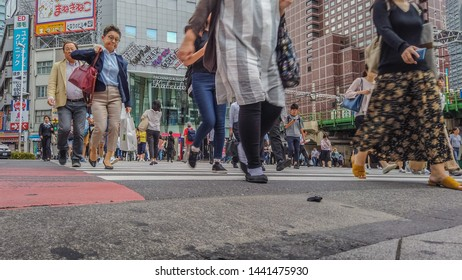 Tokyo, Japan - June 5, 2019 : Shinjuku district.Shinjuku is a special ward located in Tokyo Metropolis, Japan. It is a major commercial and administrative centre .