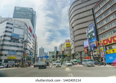 Tokyo, Japan - June 5, 2019 : Shinjuku district.Shinjuku is a special ward located in Tokyo Metropolis, Japan. It is a major commercial and administrative centre