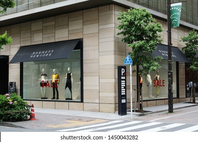 TOKYO, JAPAN - June 5, 2019:  View of the Ginza branch of Barneys New York.