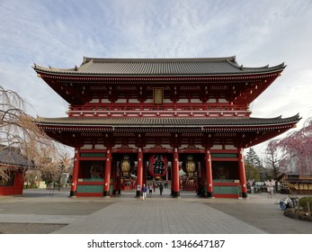 TOKYO, JAPAN - MAR 22, 2019 : Asakusa Sensoji is the large old temple in Asakusa, Tokyo. This temple is on of the famous tourist attraction.